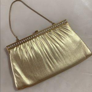 Vintage Gold Clutch Purse Handbag